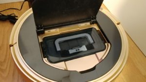 Proscenic 790T WLAN Staubsauger Roboter Test - Staubehälter